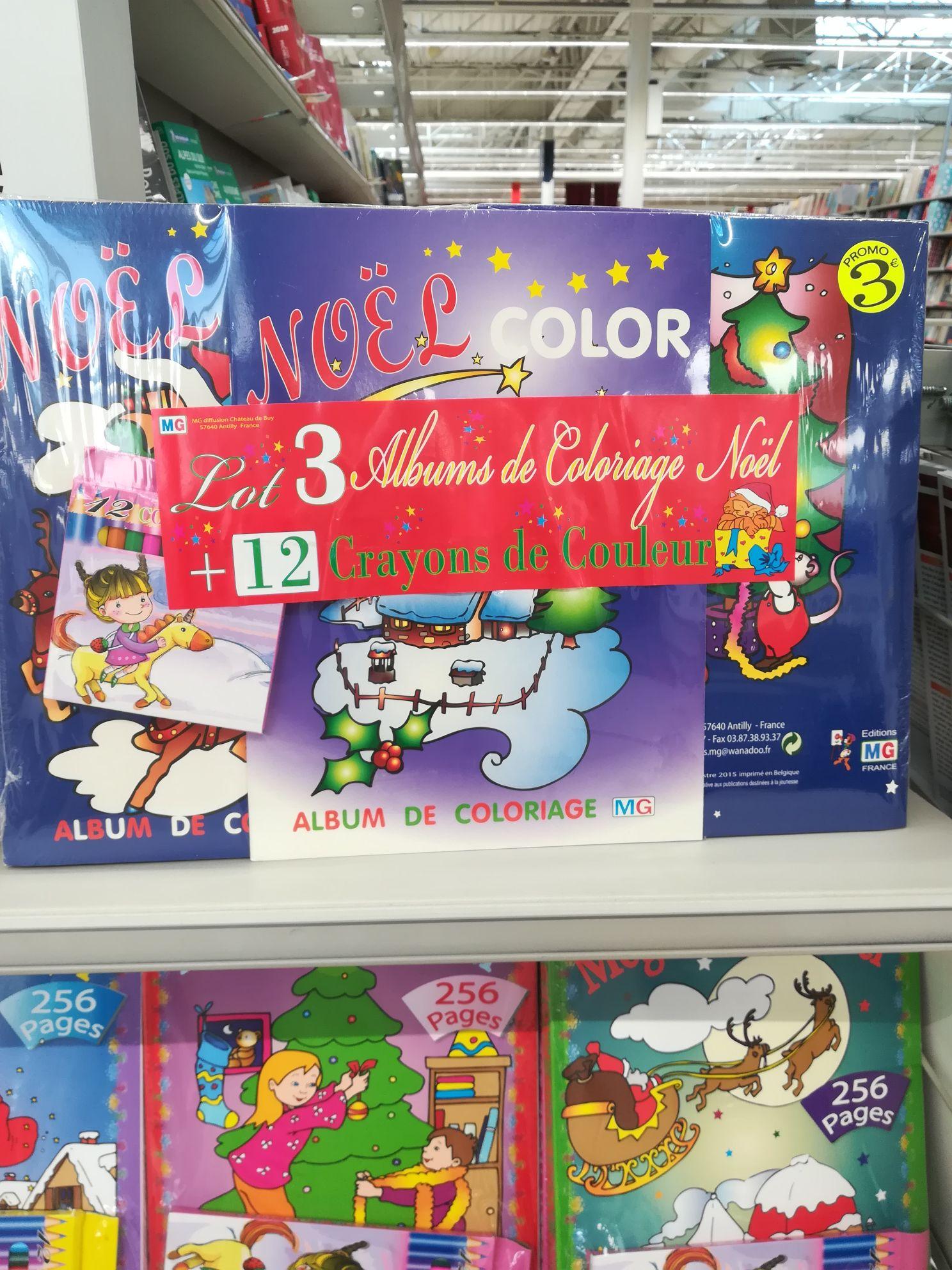 Lot 3 livres de coloriage et 12 crayons de couleur - Marzy (58)