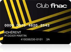Carte adhérent Fnac 3 ans gratuite (au lieu de 15€)