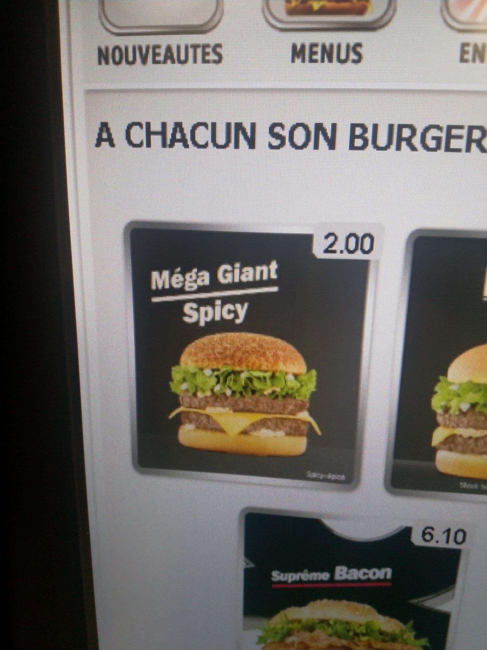 Burger Méga Giants Spicy - Saint Etienne Rond Point (42)