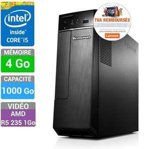 PC de bureau - Lenovo IdeaCentre H30-50 - Core i5 4460, 4 Go DDR3, 1 To, Radeon 235 (via ODR de 65€)