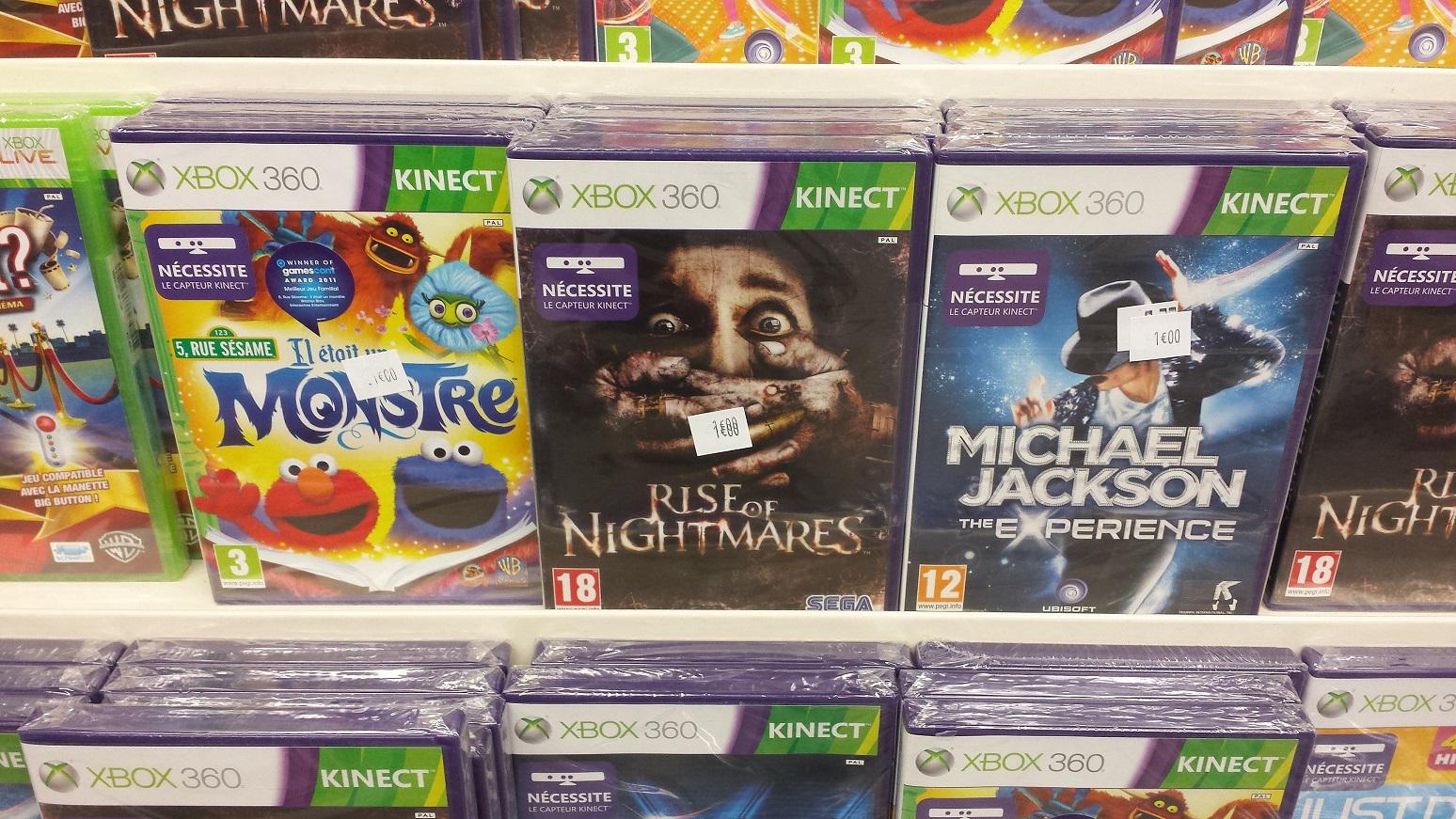 Sélection de jeux Kinect sur Xbox 360 à 1€ - Ex: Rise of Nightmare