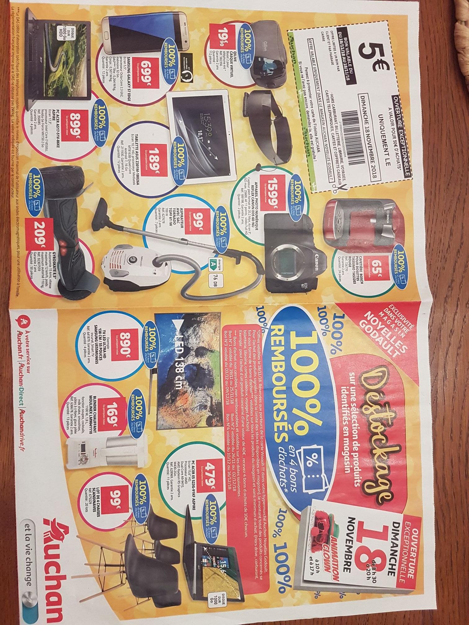 Sélection d'articles 100% remboursés en 4 bons d'achats - Auchan noyelles godault (62)