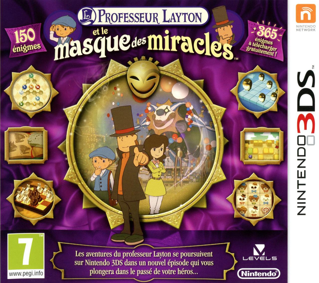 Jeu Professeur Layton et le Masque des miracles sur 3DS