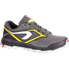 Paire de chaussures de trail Kalenji Kiprun trail xt 7 - Gris et Jaune