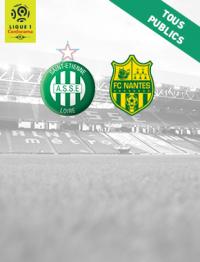 Place en kop sud pour le match homme Saint Étienne - Nantes au stade Geoffroy-Guichard (42)