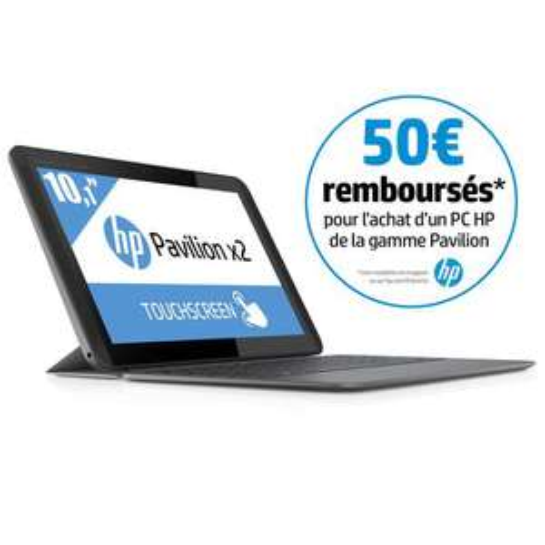 """PC portable tactile 10.1"""" HP Pavilion X2 10-K007NF (via ODR de 50€)"""