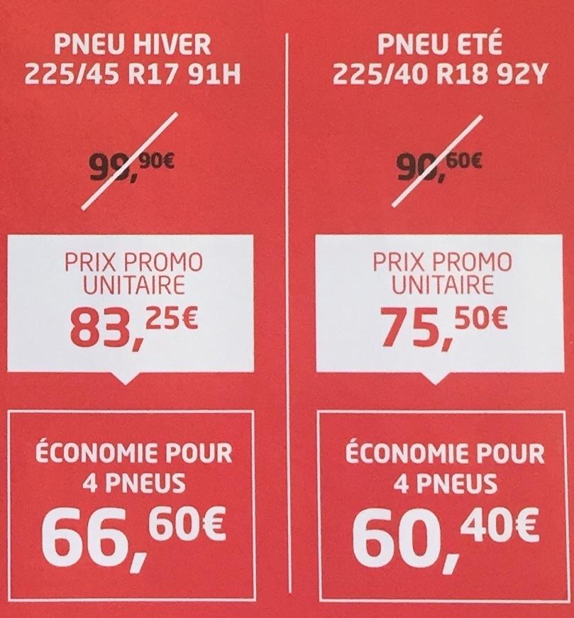Pneu Bridgestone Hiver 225/45 R17 91H (via ODR 13.87€ - firststop.fr)
