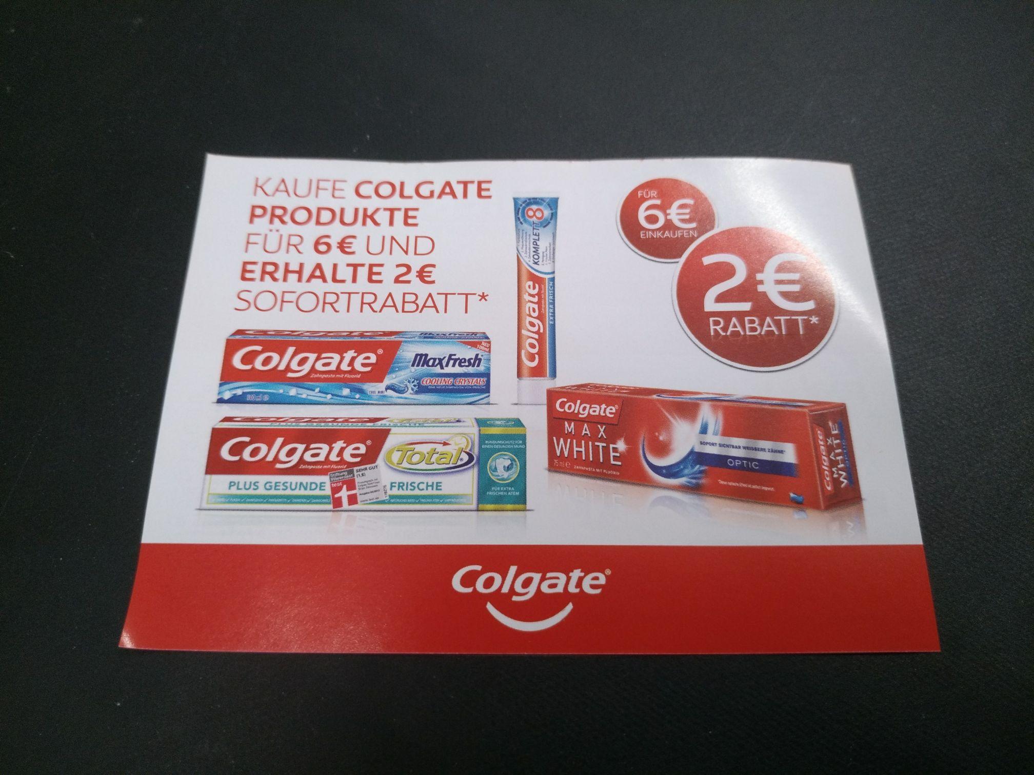 Lot de 8 Dentifrices Colgate Komplett (Sans emballage - via coupon de réduction de 2€ - Real Frontaliers Allemagne