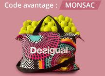 Un sac Desigual offert dès 109€ d'achat de produits soldés ou non dans la marque Desigual