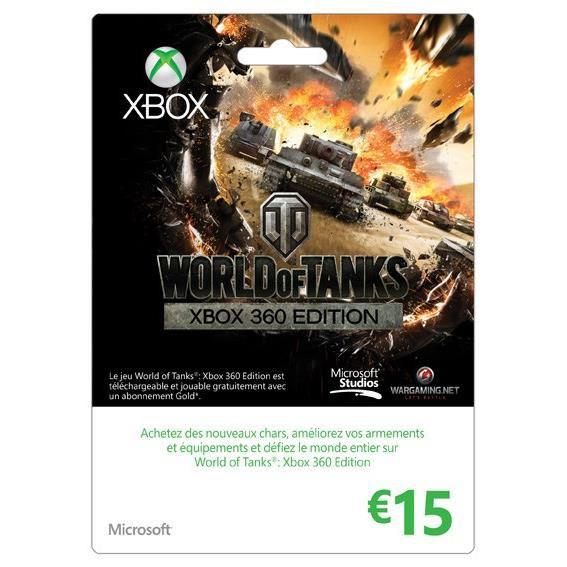 Carte Xbox One d'une valeur de 15€