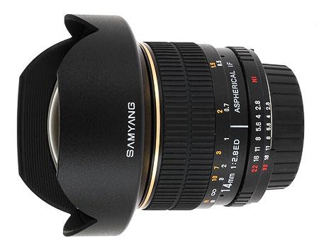 Objectif Samyang 14 mm f/2.8 Aspherical IF ED UMC monture Samsung NX (autre voir description)
