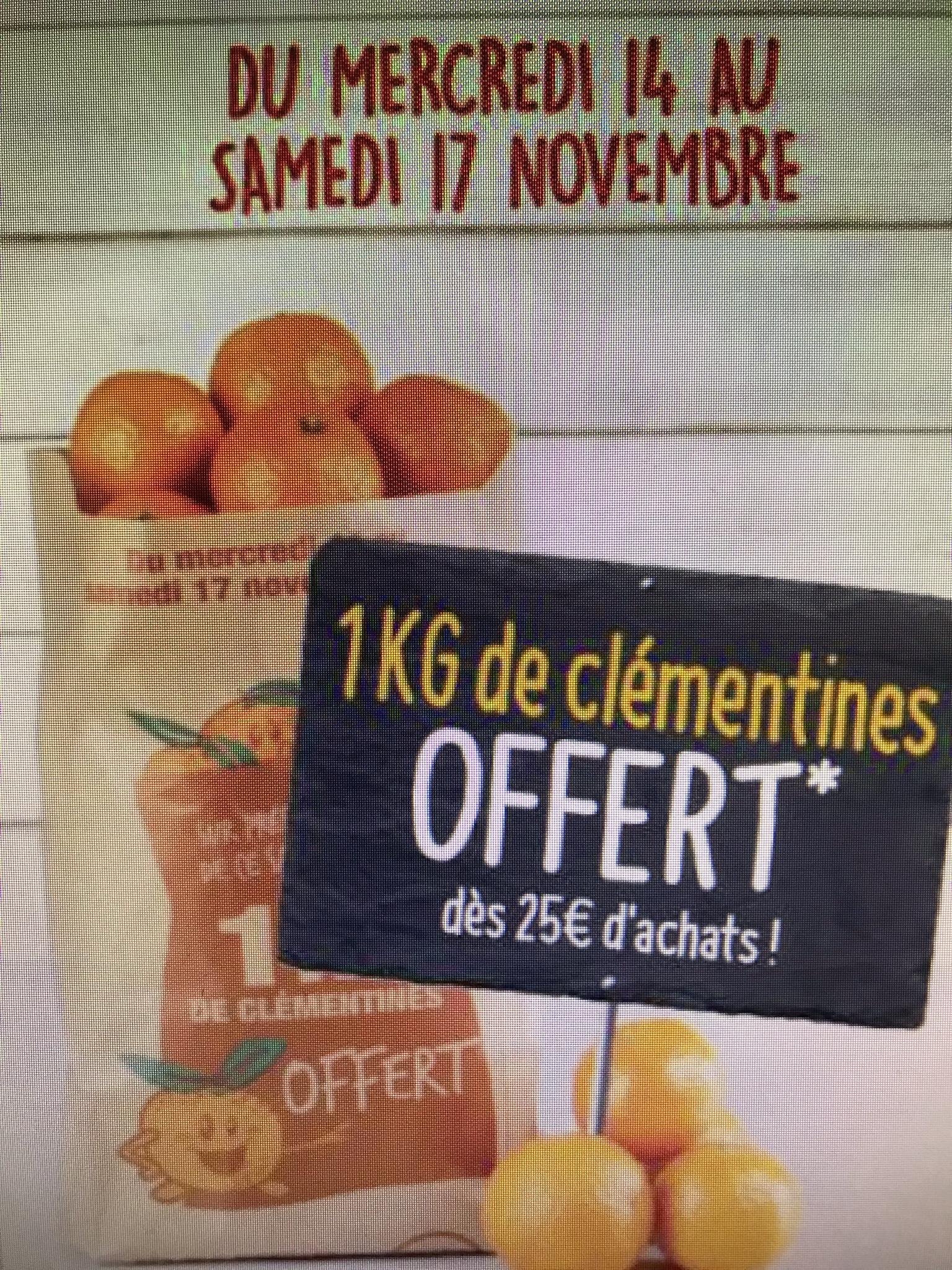 1 kg de clémentine offerts dès 25€ d'achats - Hauts de France