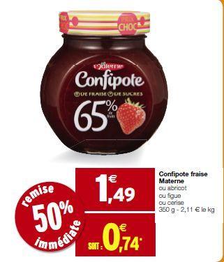 Confipote Materne plusieurs parfums disponibles, gratuit