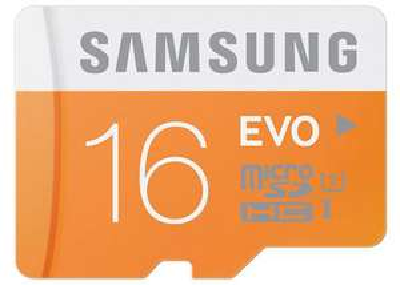 Carte mémoire Micro SDHC SAMSUNG EVO - 16 Go - Classe 10