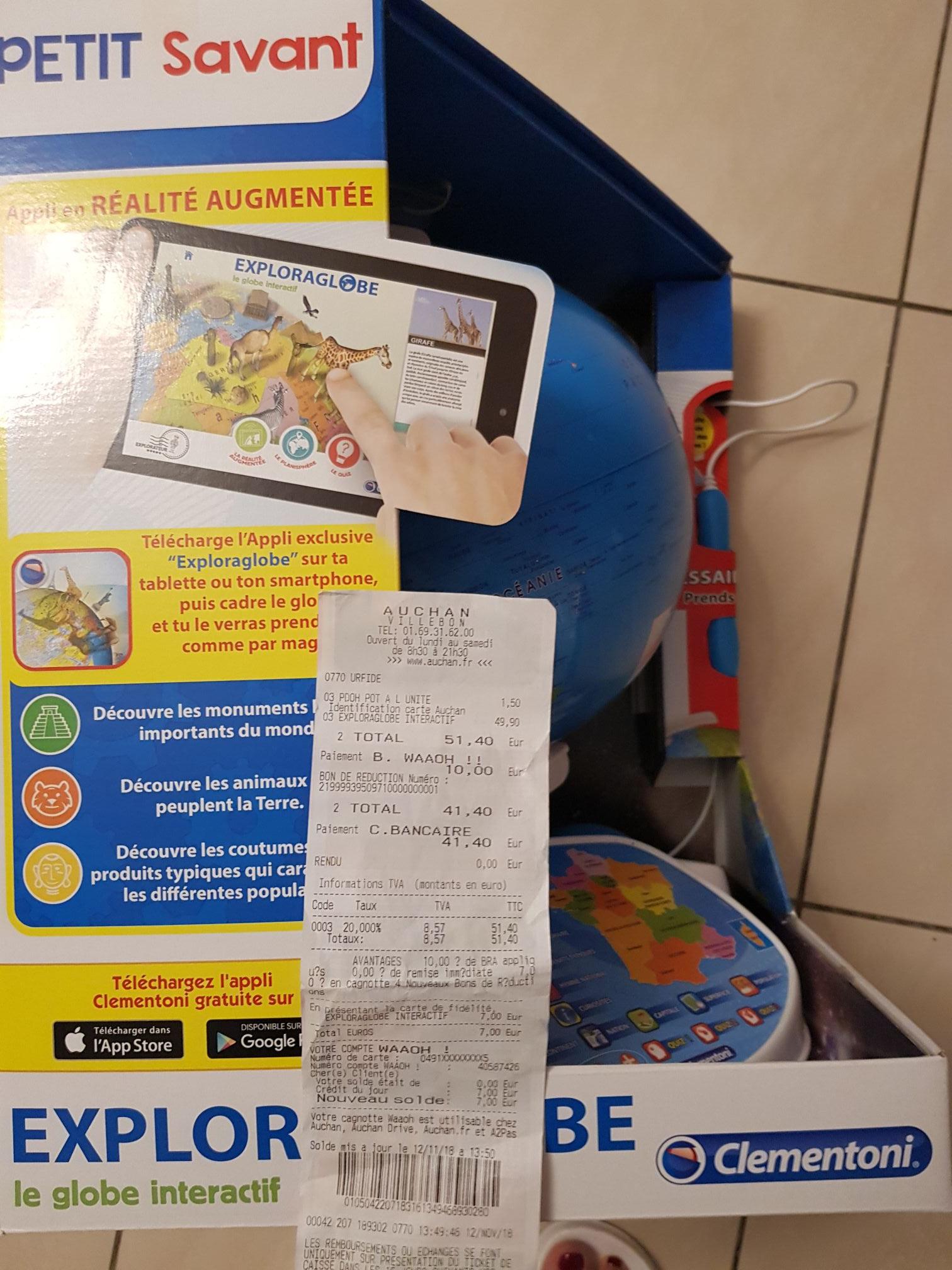 Globe Exploraglobe interactif de Clementoni (Via 7€ sur la Carte Fidélité)