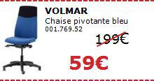 Chaise pivotante VOLMAR bleue