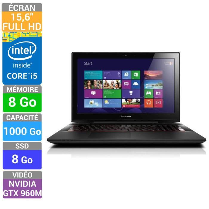 """PC Portable 15.6"""" Lenovo Y50-70 - 59442109 - Full HD IPS, i5 4210H, GTX960M, 8Go, 1TO (via ODR de 125€)"""