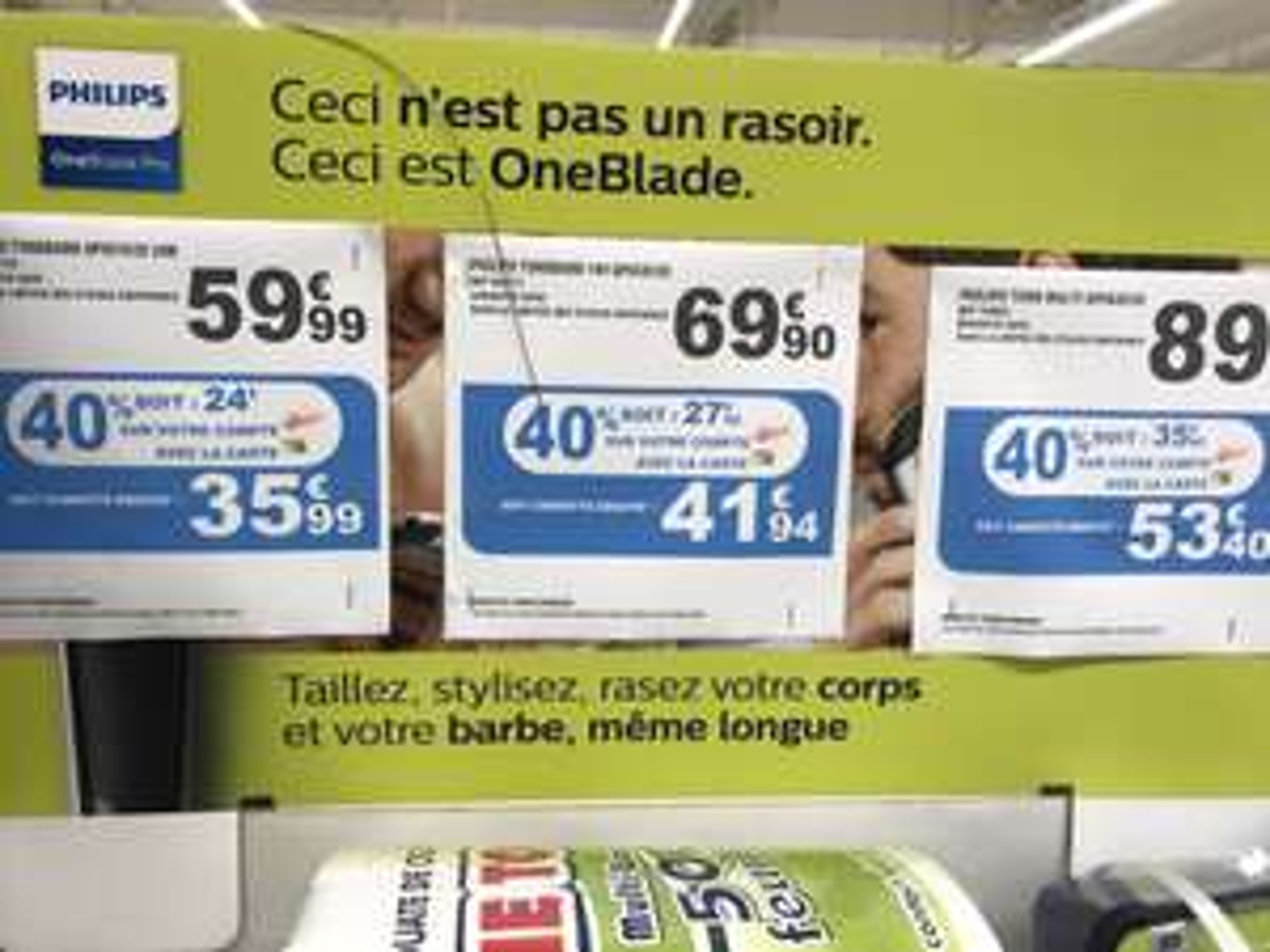 Sélection de Rasoirs Philips OneBlade en promotion via 40% de remise fidélité - Ex: QP651020 (via 24€ de remise fidélité) - Okabe (94)