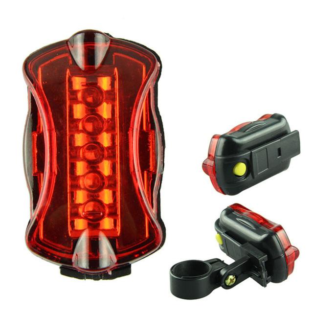Feu arrière de vélo - 5 LED