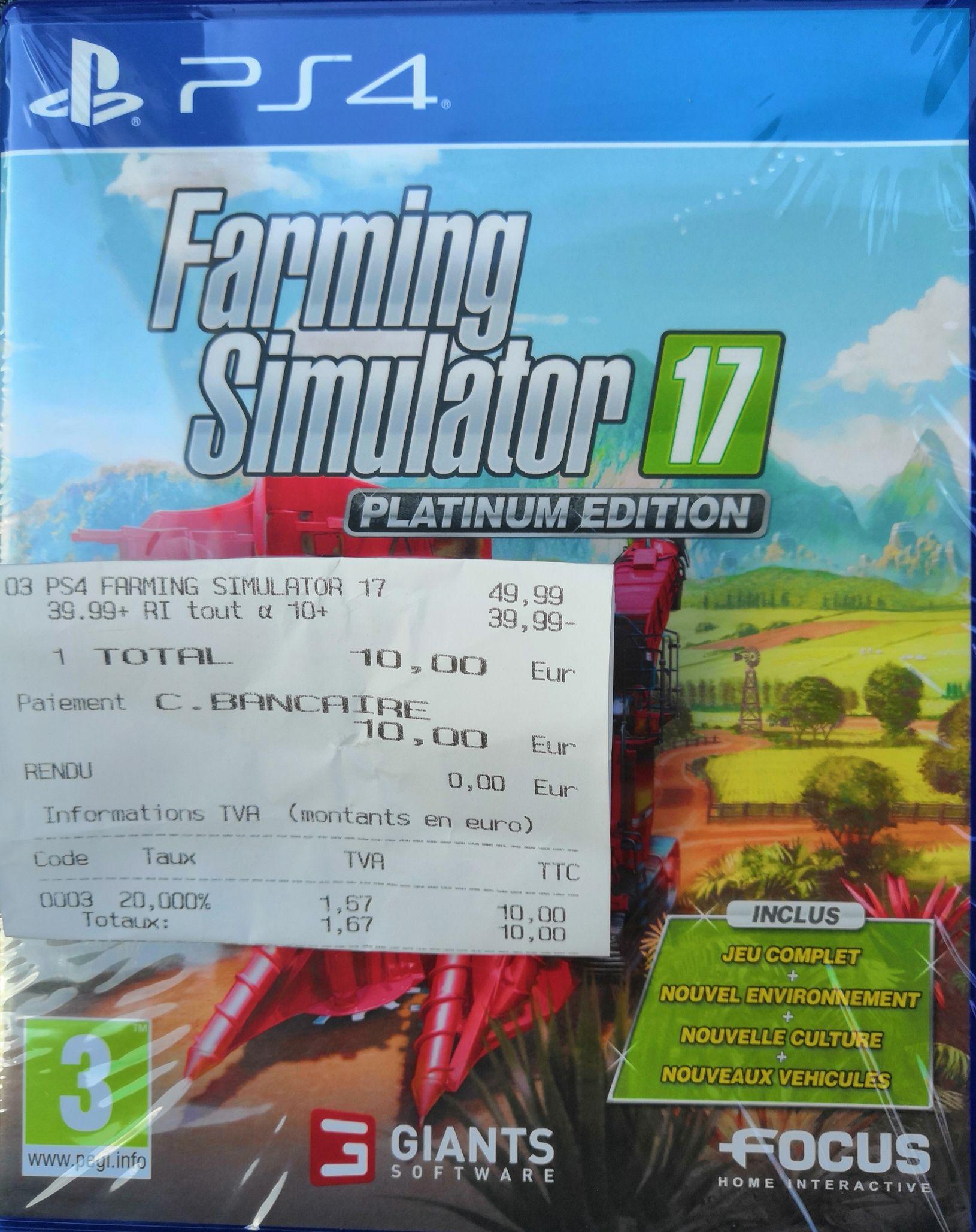 Farming Simulator 17 - Édition Platinum sur PS4 - Brétigny-sur-Orge (91)