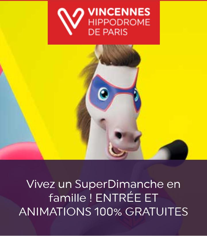 Entrée et animations gratuites à l'hippodrome de Vincennes Paris 12ème (75)