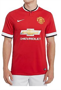 Sélection de maillots de football Premier League 14/15 - Ex: Maillot Man United Home (Taille L et XL)