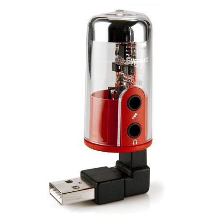 Mini carte son externe Enermax DreamBass Genie AP001E avec écouteurs - USB