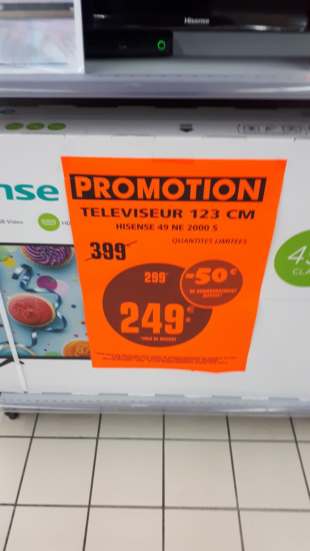 "TV 49"" Hisense 49NEC2000S - full HD, LED (via ODR de 50€) - Fleury-les-Aubrais (45)"
