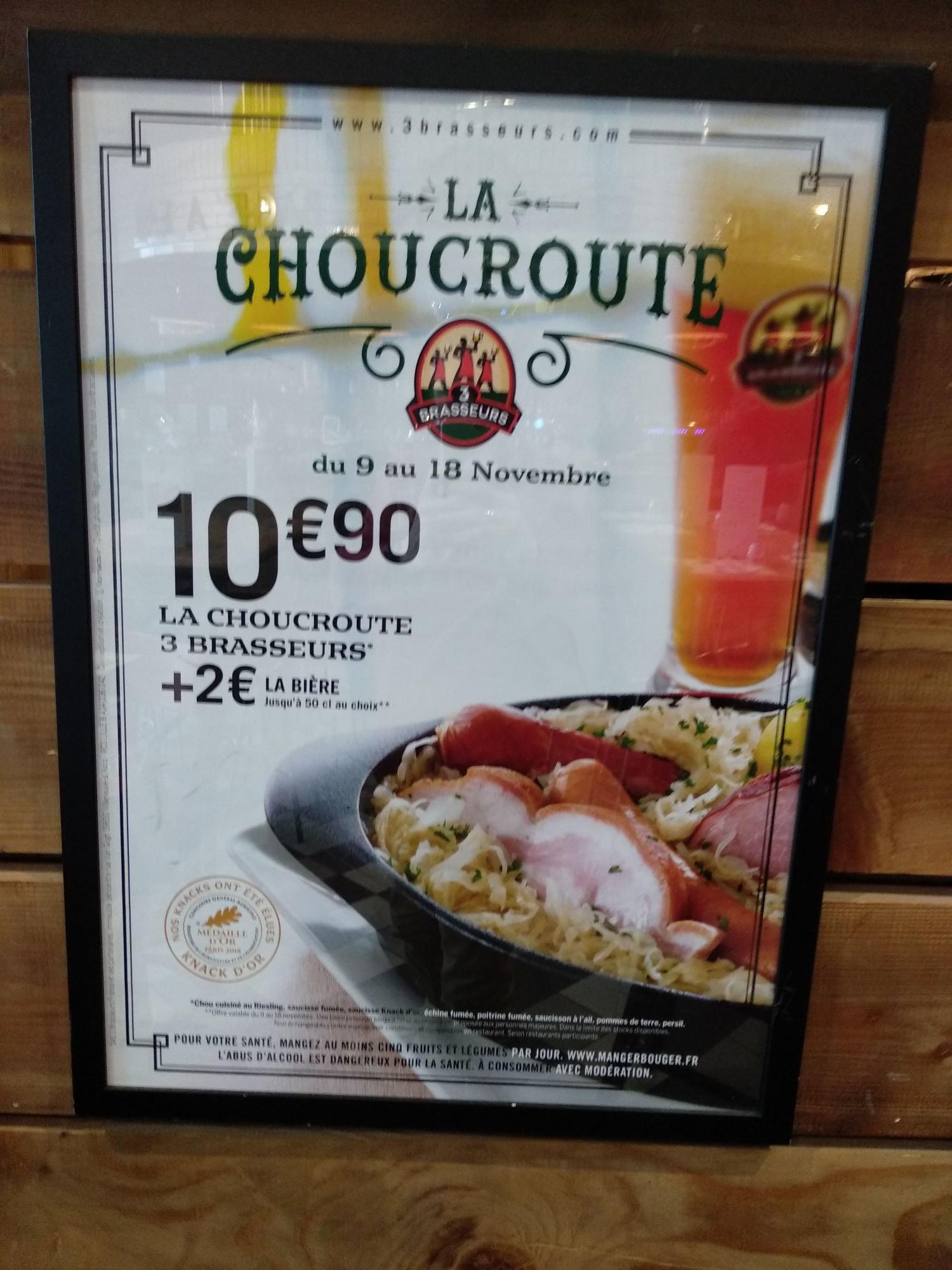 Un plat de Choucroute - aux 3 Brasseurs Quetigny (21)