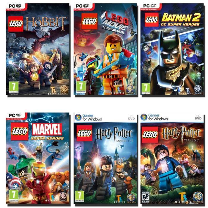 Compilation 6 jeux Lego sur PC