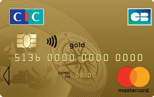 Souscription à la carte bancaire Mastercard Gold CIC - pendant un an (puis 134€ / an)