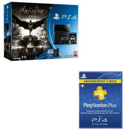 Console PS4 500Go + Batman arkham knight + 3 mois abonnement PS+