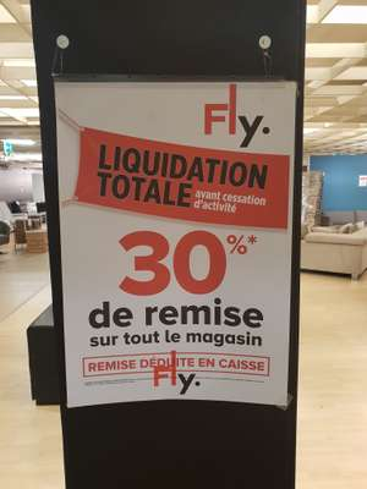 70% de réduction sur tout le magasin (liquidation totale) - Créteil (94)