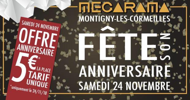 Place de Cinéma à 5€ - Megarama Montigny-lès-Cormeilles (95)