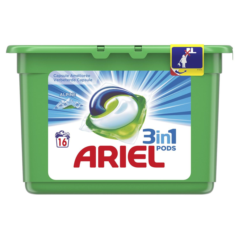 Boite de 16 capsules de lessive Ariel Pods gratuite (via BDR+Quoty+CN)