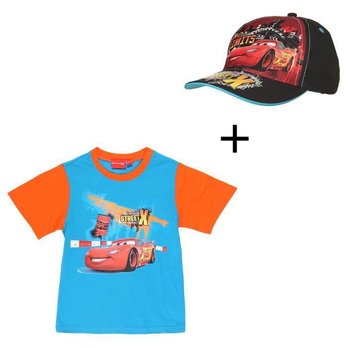 Sélection de T-Shirts + Casquette Offerte à 5.99€ - Ex : T-Shirt Cars Enfant Garçon + Casquette offerte