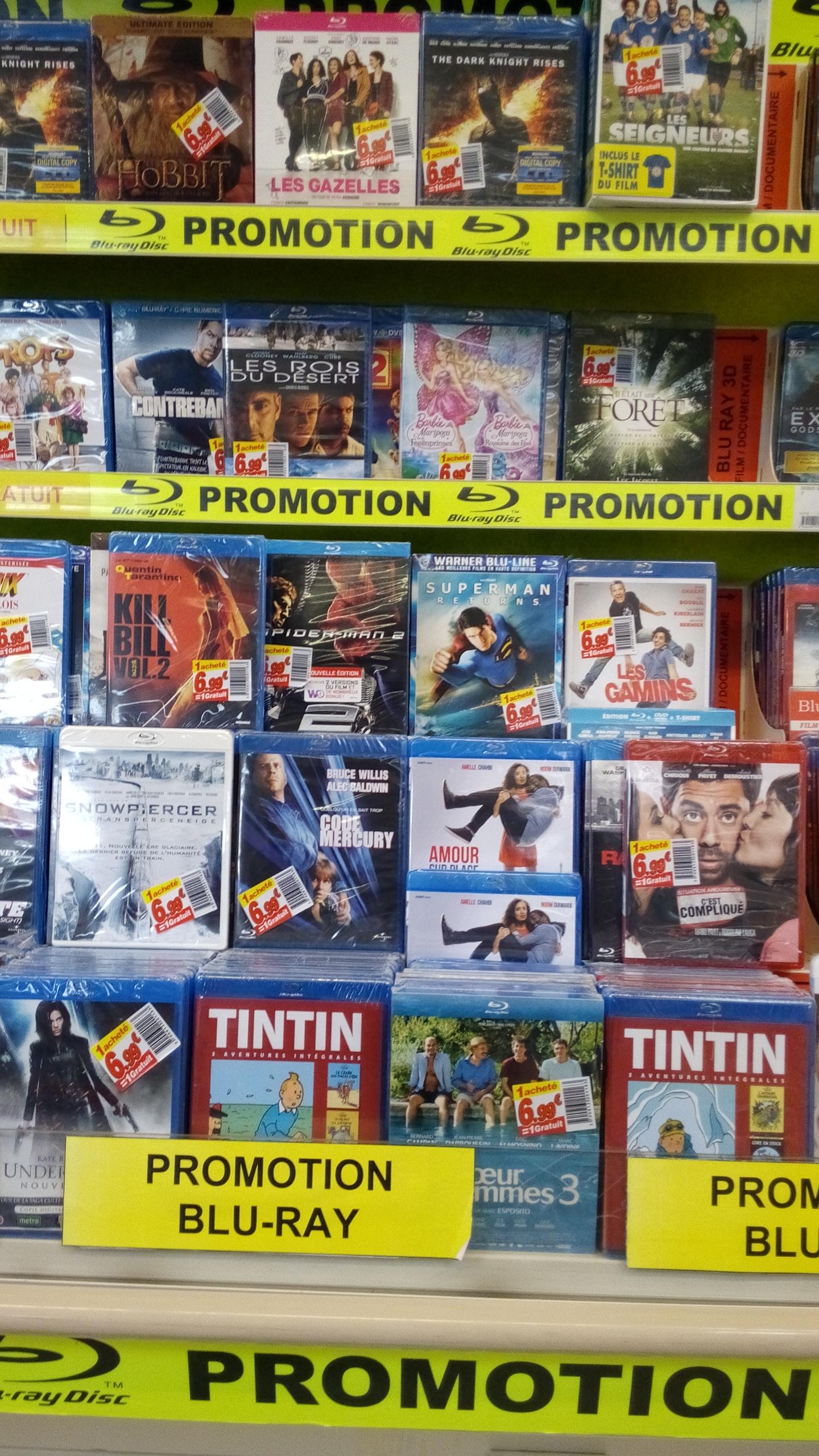 1 Blu-ray acheté  = 1 offert, soit les deux