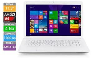 "Pc portable 17.3"" (1600x900) Toshiba Sat C70D-B-317 (AMD A4-6210, 4 Go Ram, 1 To HDD)"