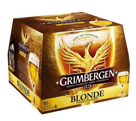 4L de bière Grimbergen blonde - 16*25cl (Via 5.4€ de remise fidélité)