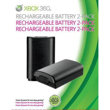 Pack 2 Batteries Rechargeables pour Manette Xbox 360 (Officielle)