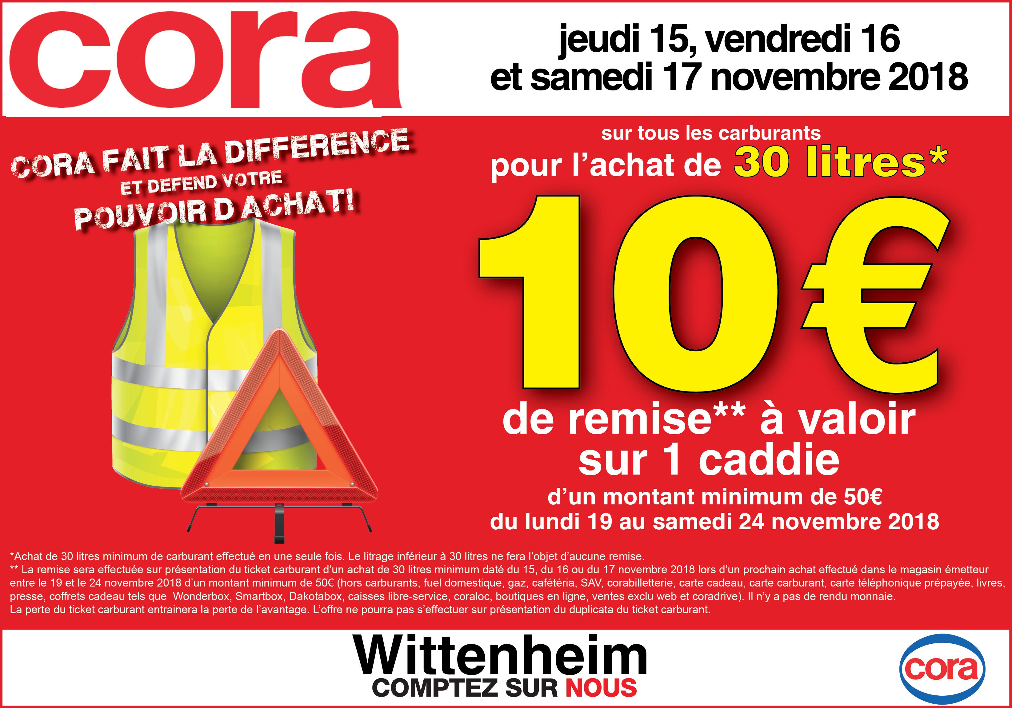 10€ offerts en Bon d'Achat pour 30 litres de carburant achetés - Wittenheim et Dornach (68)