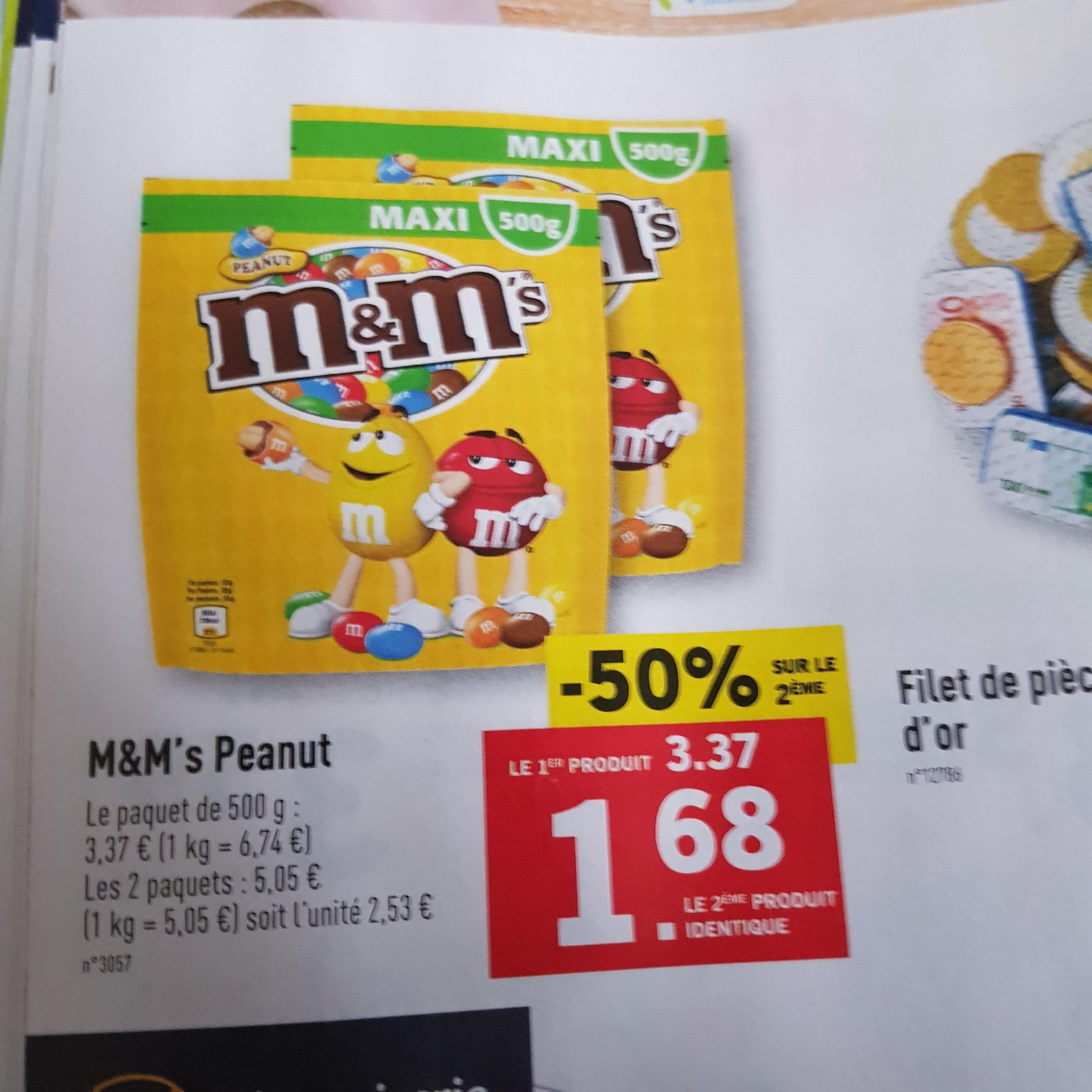 2 Paquets de M&M'S - 2x500g