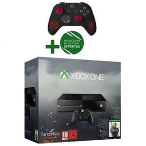 Console Xbox One + Jeu The Witcher 3 : Wild Hunt + Protection pour Manette The Witcher