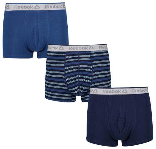 Lot de 3 boxers Reebok Danny - différents coloris (du S au XL)