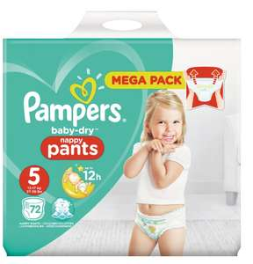 Lot de 2 paquets de couches culottes Pampers Baby Dry Nappy Pants - Taille 3 à 6