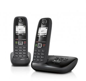 Téléphones sans fil DECT/GAP avec répondeur Gigaset AS405A Duo (avec ODR 10€)