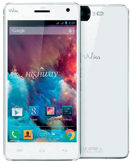 """Smartphone 5"""" Wiko Highway Heaven - 16 Go"""