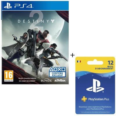 Destiny 2 + Abonnement PlayStation Plus 12 mois