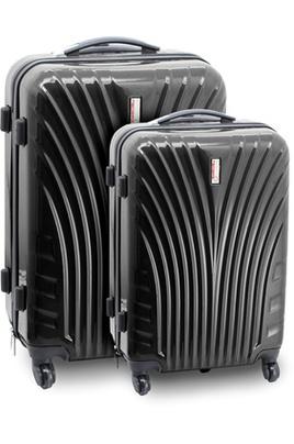 Set de 2 valises rigides noires Neobag