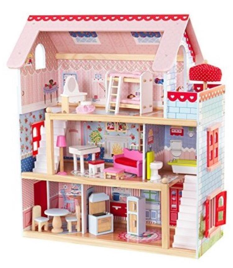 Maison de poupées en Bois KidKraft 65054 - Chelsea avec Accessoires et Mobilier